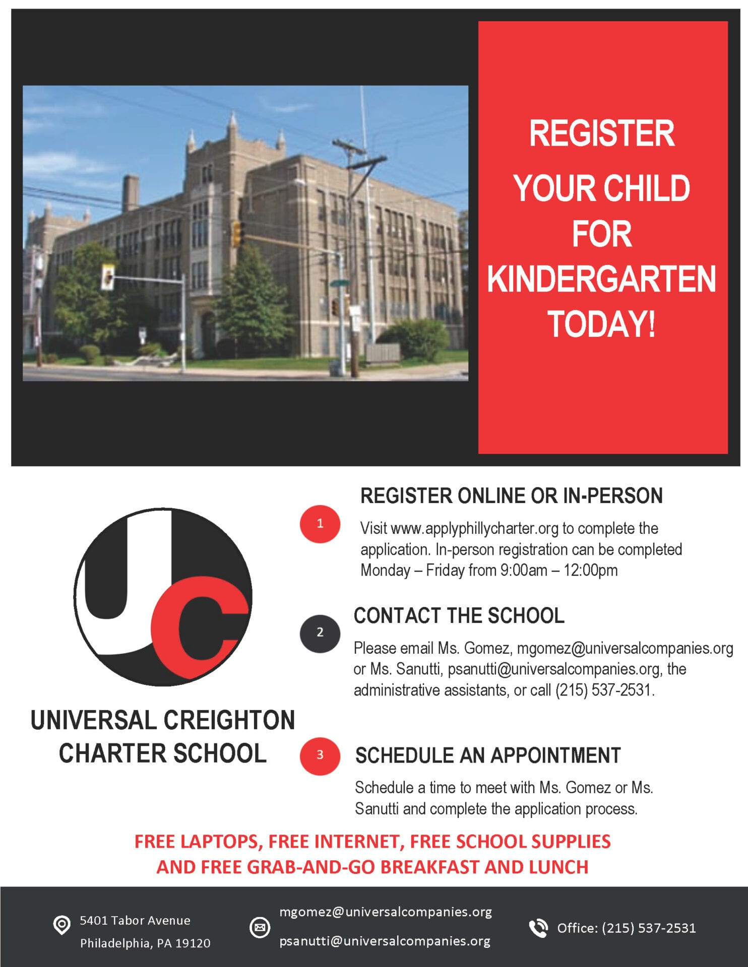 Kindergarten Registration Flyer Creighton