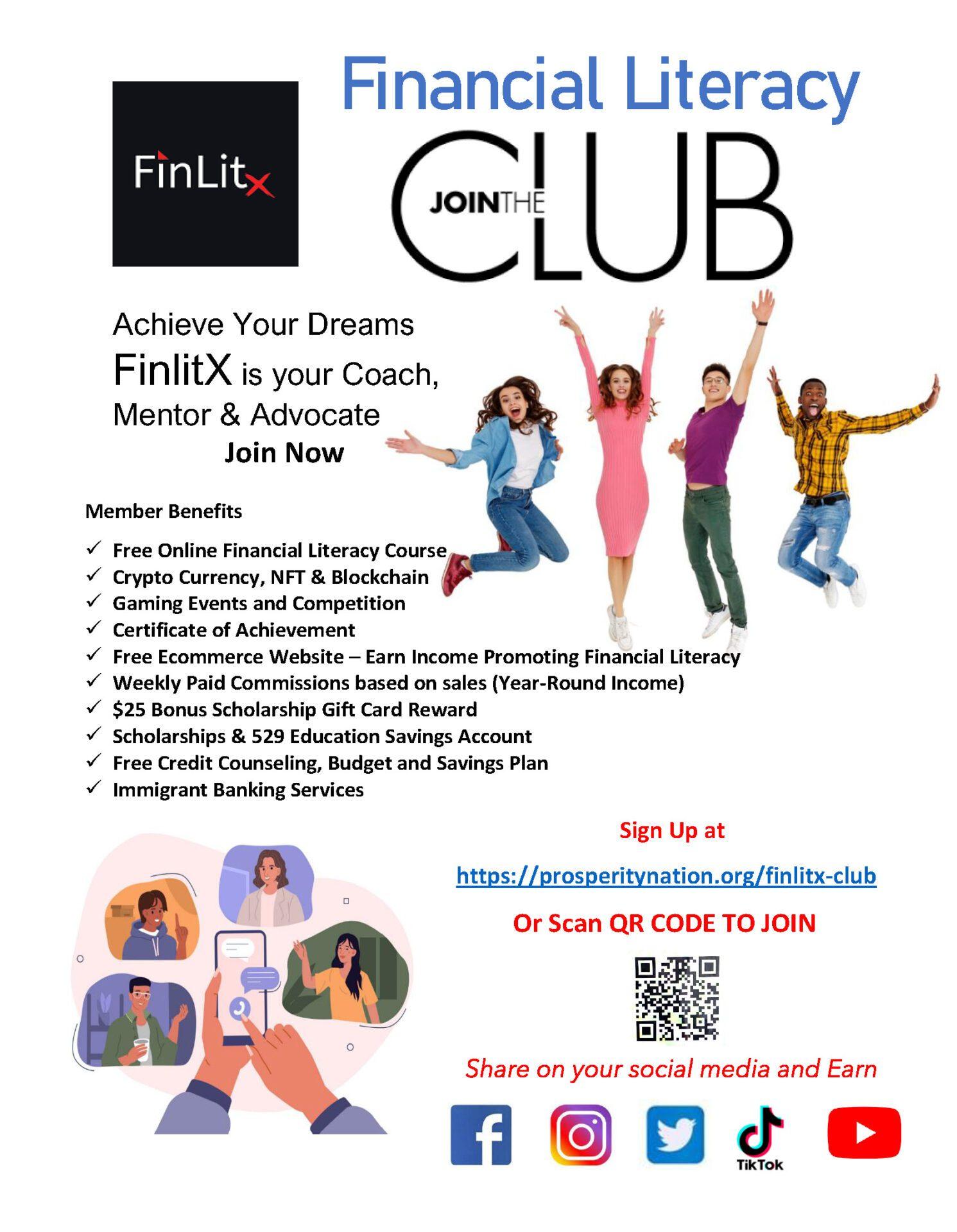 Financial Literacy Club Flyer